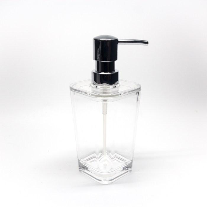Classic Square Bathroom Pump Lotion Dispensers Clear