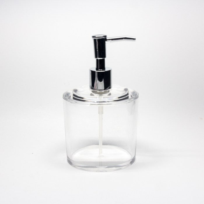 New Clear Acrylic Oval Liquid Soap Dispenser Clear