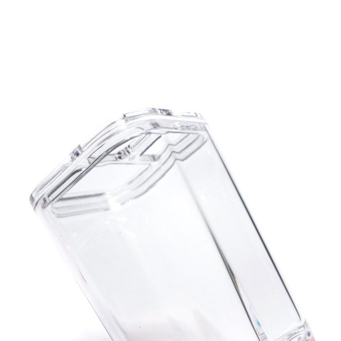 Classic Square Bathroom Organizer Brush Collection Holder Clear