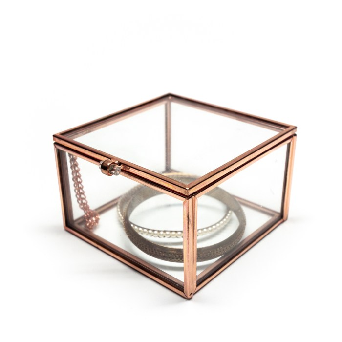 Rose Gold Vintage Decorative Glass Box
