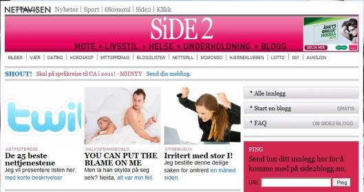 Bloggen min på Side2.no