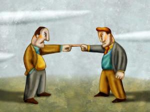 Two people arguing av Alberto Ruggieri