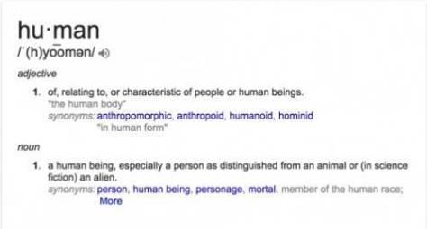 define human person