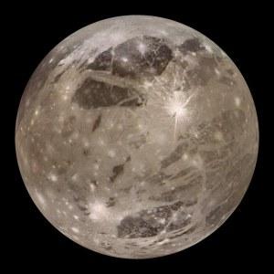 Ganímedes. Por cada órbita que completa, Ío da 4 alrededor de Júpiter.