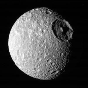 Cráter de Herschel (en Mimas, una luna de Saturno)