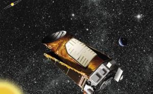 Recreación artística del satélite Kepler