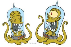 Kang y Kodos, los dos alienígenas de Los Simpsons