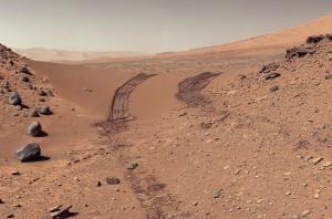 Fotografía de Marte tomada por el Rover Curiosity