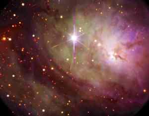 Detalle de la región central, donde se encuentra lo que conocemos como Nebulosa del Reloj de Arena. Recuerda, no es lo mismo que la nebulosa del mismo nombre, que es completamente diferente (y mucho más popular)