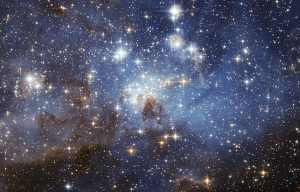 Esta región de la Gran Nube de Magallanes es una zona de formación de estrellas. Crédito: European Space Agency (ESA/Hubble)