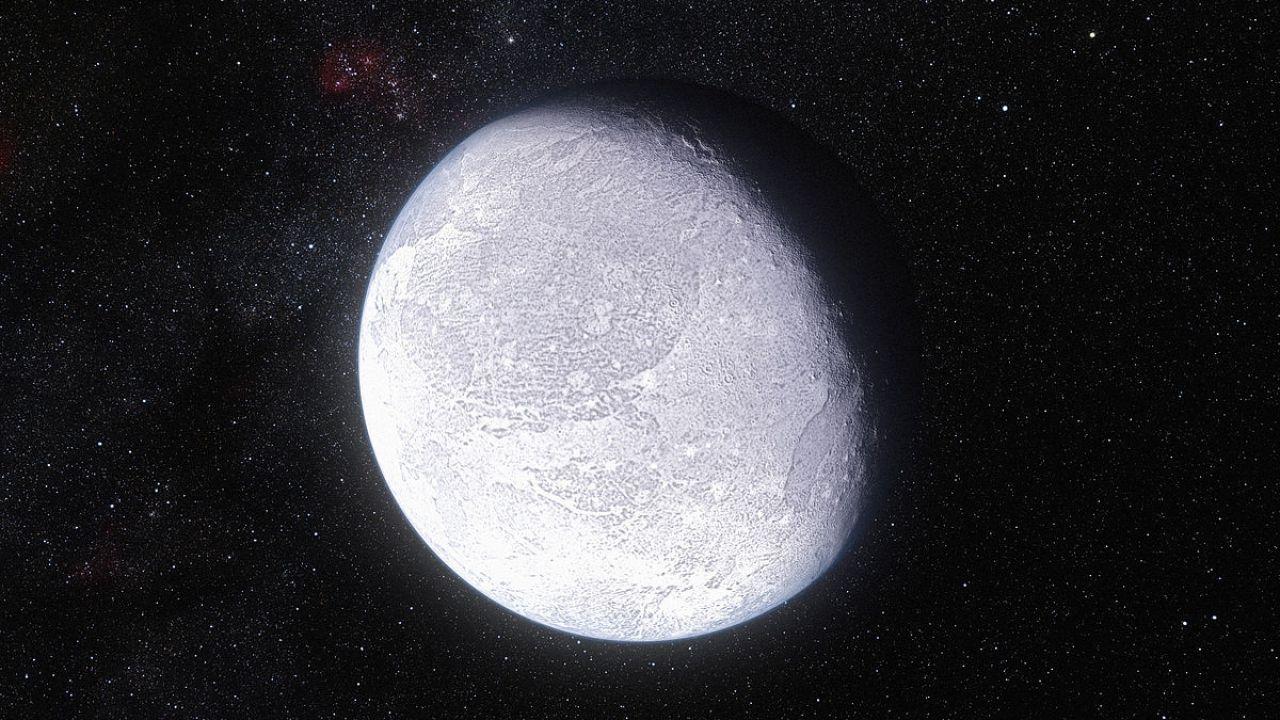 Eris Planeta Enano Foto visto desde el espacio