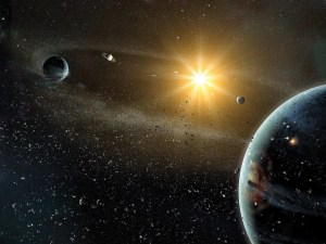 Un Sistema Solar caótico. Crédito: Dana Berry, National Geographic