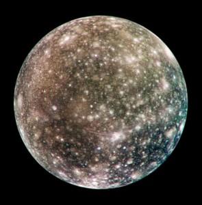 Calisto, observado desde el hemisferio opuesto a Júpiter. Crédito: NASA/JPL/DLR(German Aerospace Center)