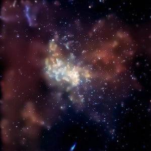 Esta es una imagen de Sagitario A*, el agujero negro supermaviso en el centro de la Vía Láctea, capturada por el observatorio de Rayos X Chandra. Crédito: NASA/CXC/MIT/F.K. Baganoff et al.