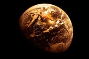 Si lo hubiésemos observado en el pasado, es posible que nuestro planeta tuviese un tono similar a éste... Crédito: NASA/IFLScience
