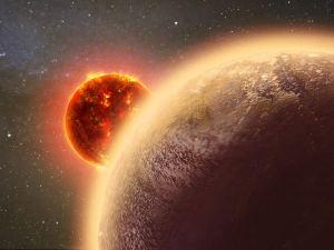 Concepto artístico de Gliese 1132b alrededor de su estrella. Crédito: Dana Berry