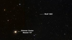 La posición de Wolf 1061. Crédito: UNSW