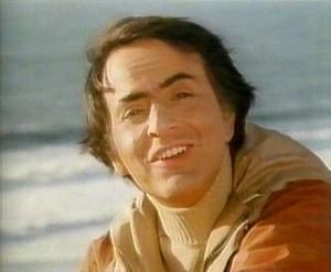 Carl Sagan, en una imagen de Cosmos: Un viaje personal.