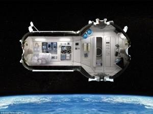 La NASA ha explicado que su modelo habitacional está inspirado, en cierto modo, en este presentado por Orbital Technologies hace algunos años. Crédito: Orbital Technologies