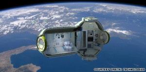 Este imagen muestra cómo podría ser un posible hotel espacial. Crédito: Orbital Technologies