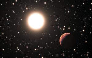 Este es un concepto artístico de uno de los planetas que, en 2014, ESO (el Observatorio Europeo Austral, en Chile) descubrió alrededor del cúmulo de Messier 67. Crédito: ESO