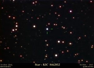 KIC 8462852 fotografiada desde Puerto Rico. Crédito: Efraín Morales Rivera