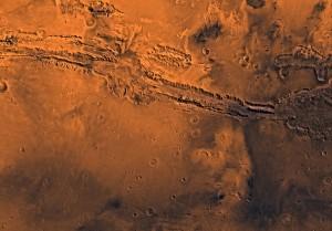 El Valles Marineris, fotografiado por la Viking 1. Crédito: NASA/JPL/USGS - JPL Photojournal