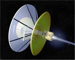 Un estatorreactor de Bussard (también llamado Bussard ramjet). Planteado por el físico estadounidense Robert W. Bussard. Crédito: NASA