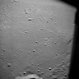 El Mar de la Tranquilidad visto desde el módulo lunar de la misión Apolo 10. Crédito: NASA