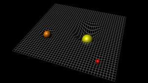 Los objetos con masa deforman el espacio. Y eso es lo que sentimos como gravedad. Crédito: ESA/C.Carreau