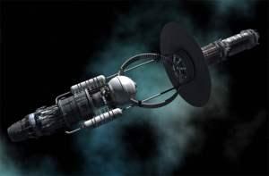 Un concepto tan futurista como podríamos imaginar. Este es un diseño de una nave propulsada por un agujero negro, un concepto desarrollado por Jeff Lee. Crédito: Adrian Mann.