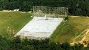 El radiotelescopio Big Ear, en el terreno de la Universidad de Wesleyan, en Ohio, funcionó desde 1963 a 1998. Crédito: Bigear.org / NAAPO