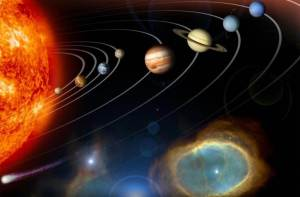 Una representación artística de los planetas y otros objetos del Sistema Solar. Crédito: NASA