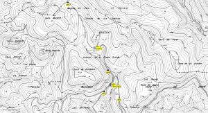 Mapa topográfico de la Fraguara, en Granada. Crédito: sierradebaza.org