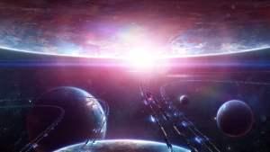 Una recreación artística (y enteramente ficticia) de una red de transporte espacial. Crédito: wallpaperscraft.com