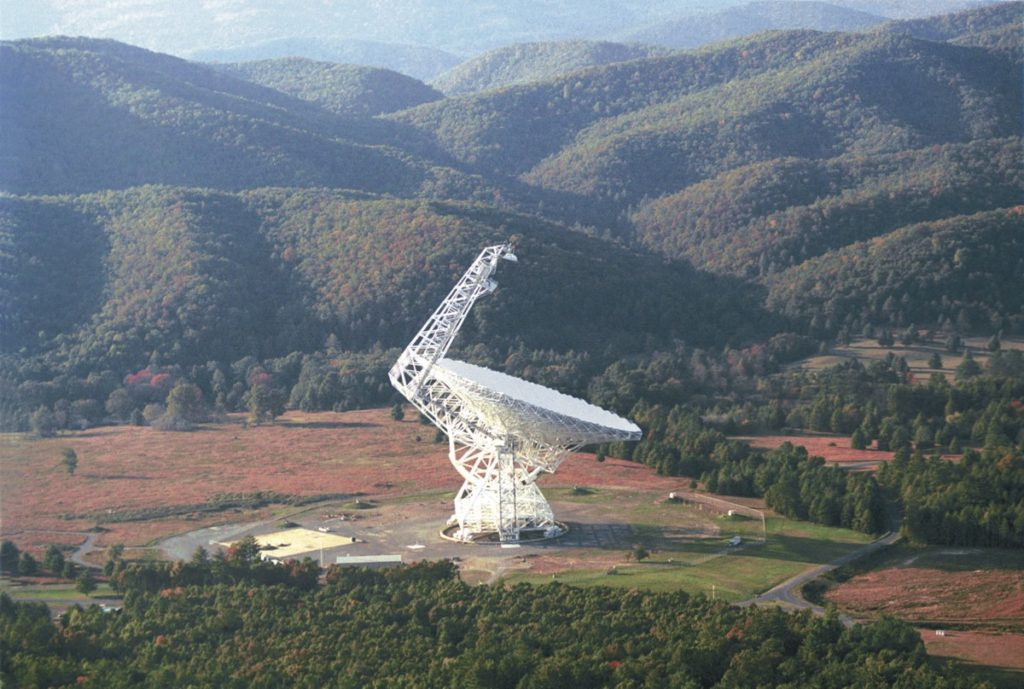 Breakthrough Listen ha usado observatorios como el de Green Bank para publicar 1 petabyte de datos.