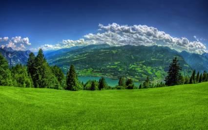 Imagen panorámica de un paisaje.