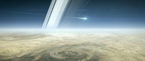 La sonda Cassini desintegrándose en la atmósfera de Saturno