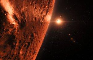 El agua en TRAPPIST-1 podría ser abundante.