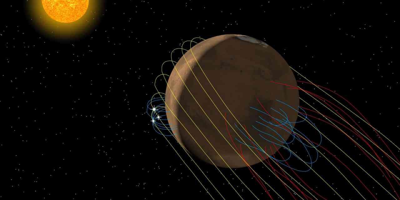 Marte tiene una cola magnética distorsionada por el Sol
