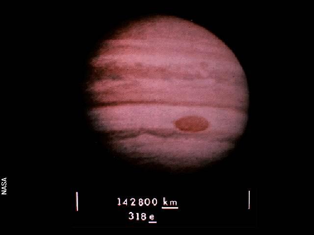 Imagen de Júpiter en el disco de oro de las sondas Voyager. Crédito: NASA