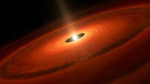Observan el nacimiento de un planeta gigante