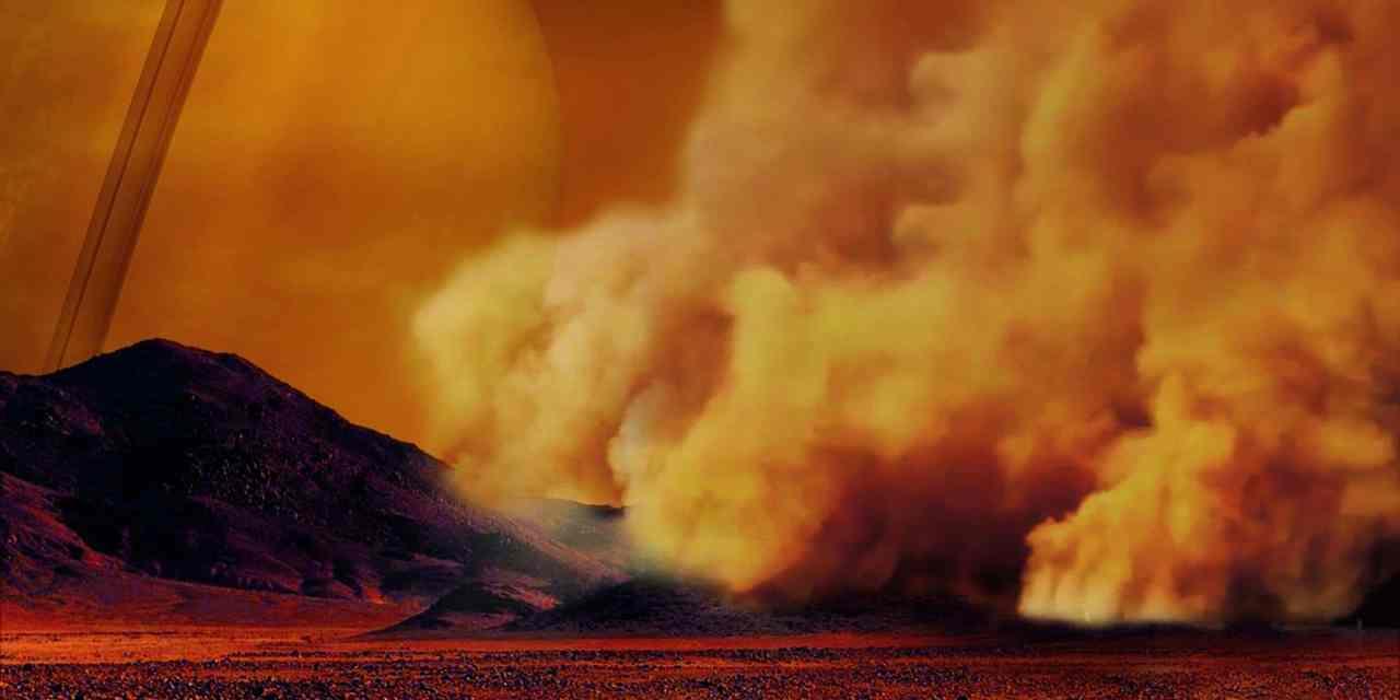 Titán experimenta tormentas de arena