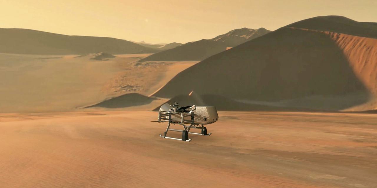 Dragonfly, un robot volador que explorará Titán