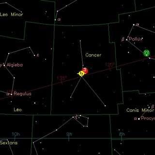 Mars en Saturnus bij M44