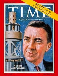 James E. van Allen op de cover van Time Magazine, 4 mei 1959