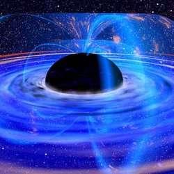 Illustratie van een superzwaar zwart gat