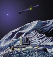 Rosetta in een baan om 67P + lander