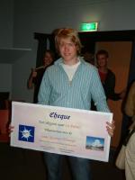 winnaar Joost Broens van de eerste Nederlandse sterrenkunde Olympiade