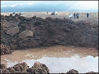 De inslagkrater nabij Carancas